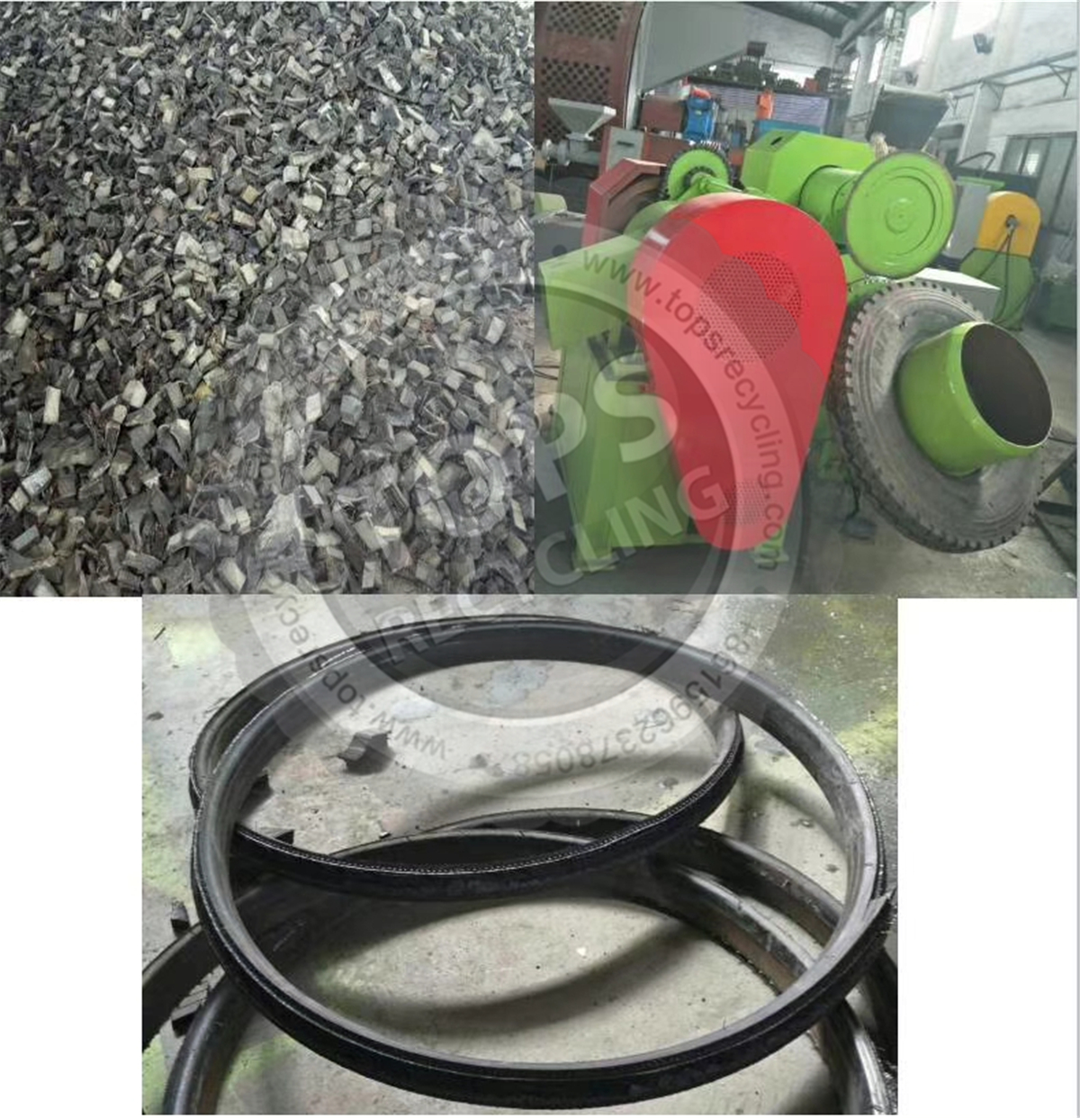 waste tire cutting machine