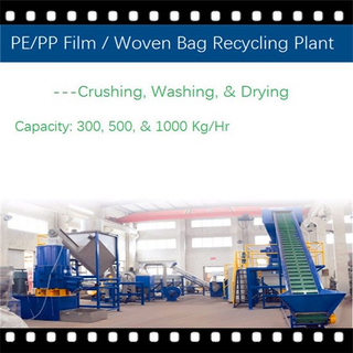 Waste Woven Bag & PE/PP Film Crushing Washing Recycling Machine Line