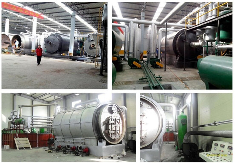 buy high quality Scrapped tires and plastic pyrolysis plant, tire