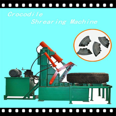Crocodile shearing tire cutting machine